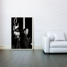 Frank Sinatra, Decorative Arts, Prints & Posters, Wall Art Print, Poster Any Size - Black and White Poster